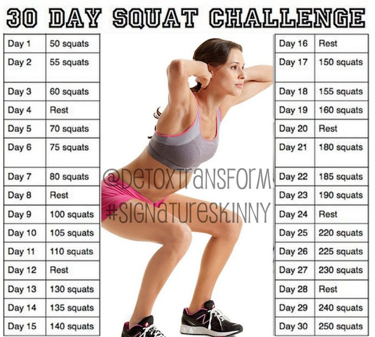 30 day squat challenge | 30 Day Squat, Push-up, and Crunch Challenge! Who's with me ...