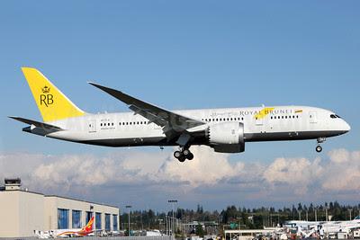 Royal Brunei Airlines Boeing 787-8 Dreamliner V8-DLA (line number 128) PAE (Nick Dean). Image: 919734.
