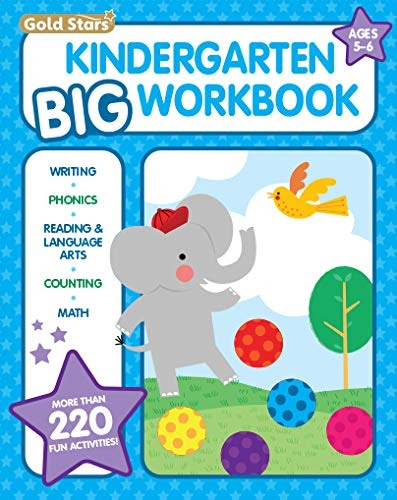 Download Pdf Chrome Pdf Download Kindergarten Big Workbook Ages 5 6 220 Activities Writing Phonics Reading Language Arts Cou Full Books