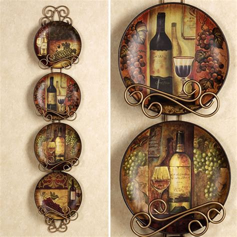 wine  grapes kitchen decor home majestic grape plate