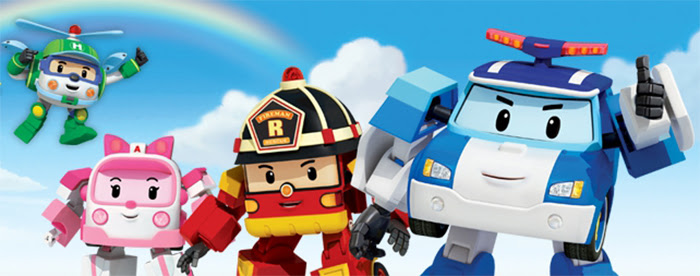 Robocar Poli Police Department Theme Set With 2 Robocar Characters