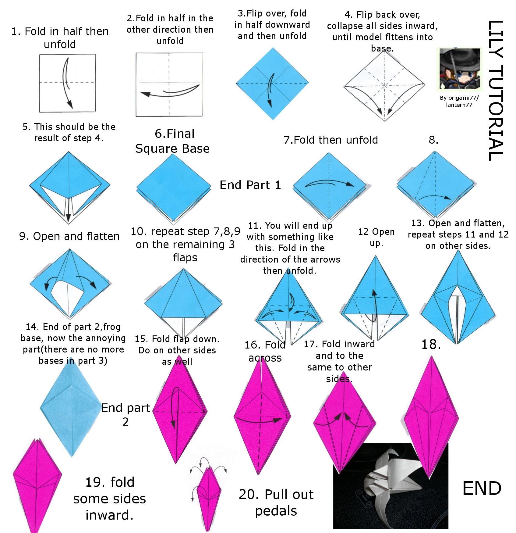origami lily – do origami | 1748x1694