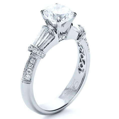 Tapered Diamond Engagement Ring #1146