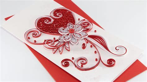 quilled card   How to make Beautiful Quilling Wedding Card