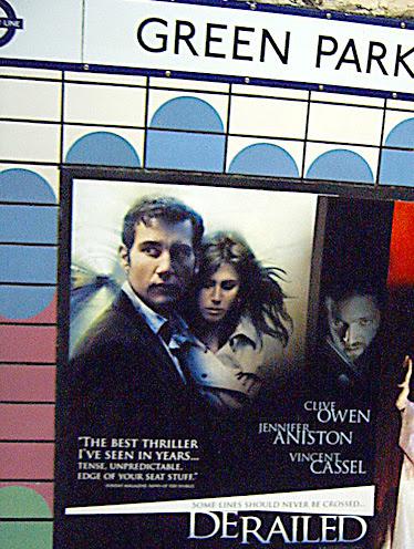 Derailed Poster Ad at Green Park London Underground