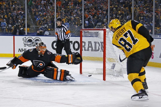 Sidney Crosby a inscrit son 34e but de... (Photo AP)