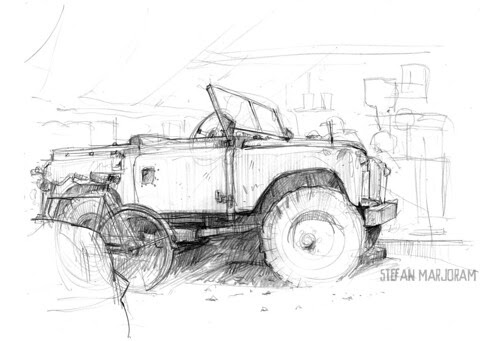 land rover by Stefan Marjoram