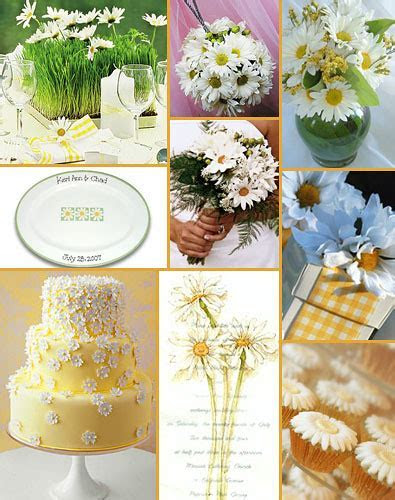 Daisy Theme Bridal Showers and Weddings   Ideas and