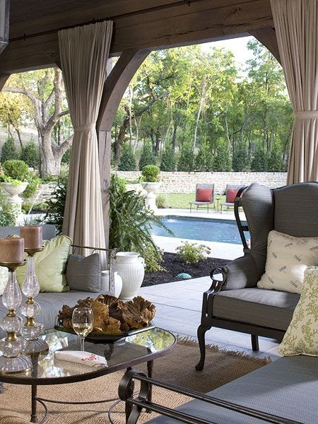 30 Luxurious Living Room Design Ideas: Dering Hall Landscape Garden