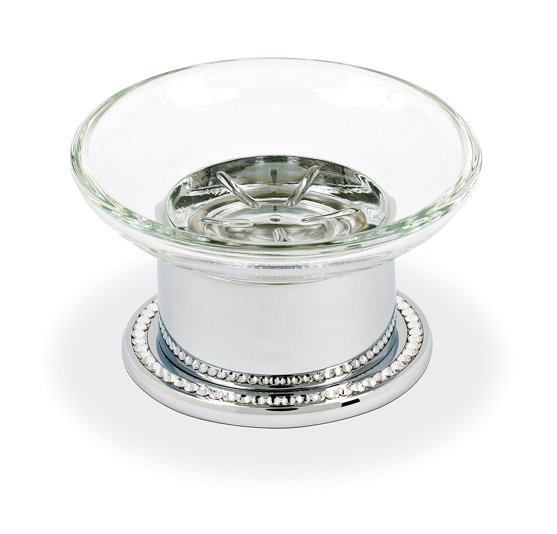 Topex Hardware A203080621 Free Standing Soap Dish With Swarovski