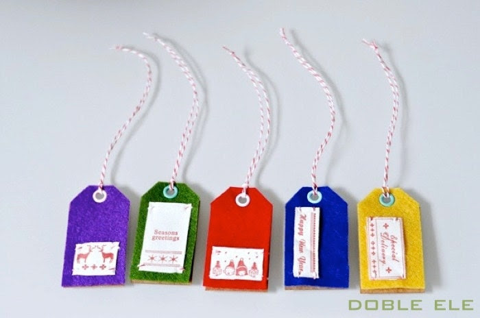 Limited Edition Felt Tag Cards x 5