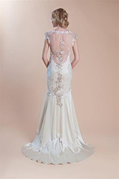 Embroidered Illusion Back Gown ? Claire Pettibone Silk