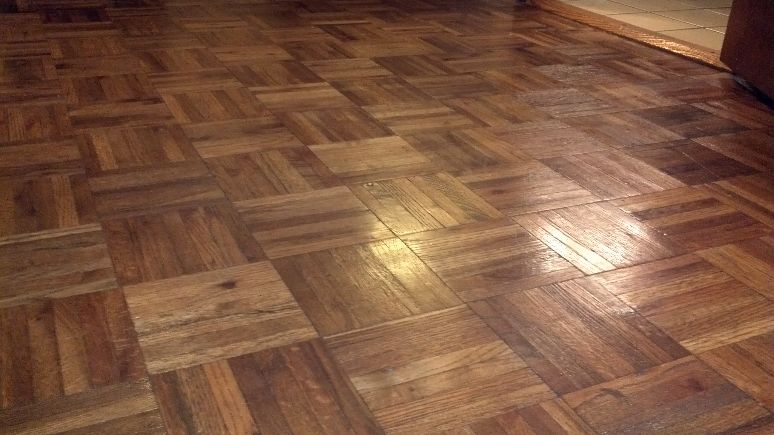 Day 43: Dull Parquet Floor – what to do? | Project Pinterest 365