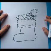 Como Dibujar Un Calcetin De Navidad Paso A Paso Pintaycreaover