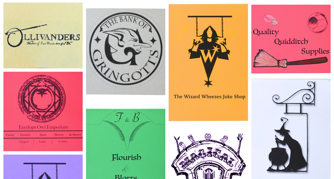 Ikat Bag Harry Potter Party Diagon Alley Posters Amp Signs
