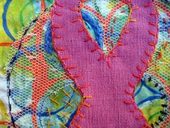 prayer flag: breast cancer ~detail