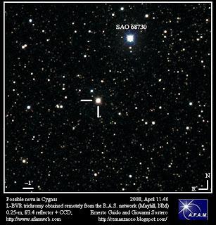 Posible Nova en Cygnus