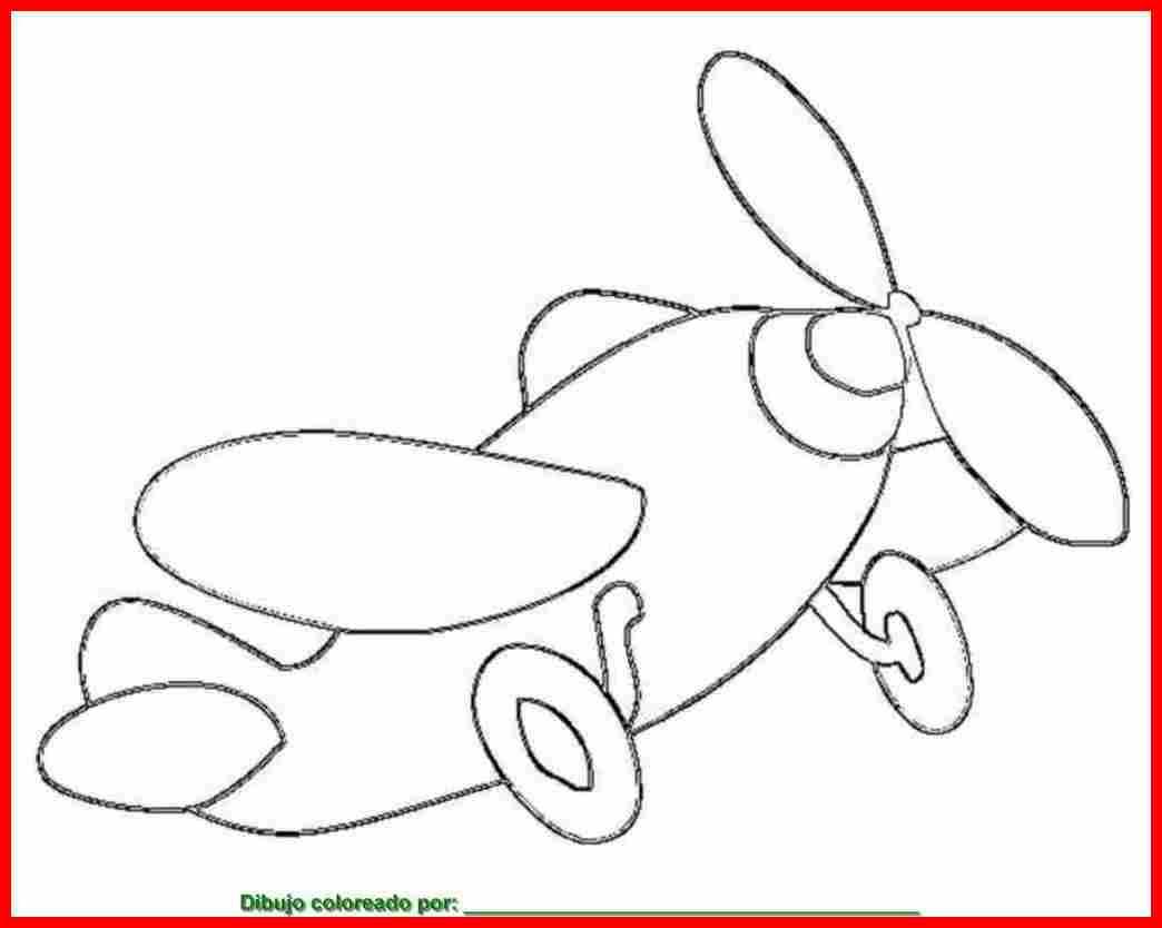 Dibujo De Aviones Para Colorear E Imprimir