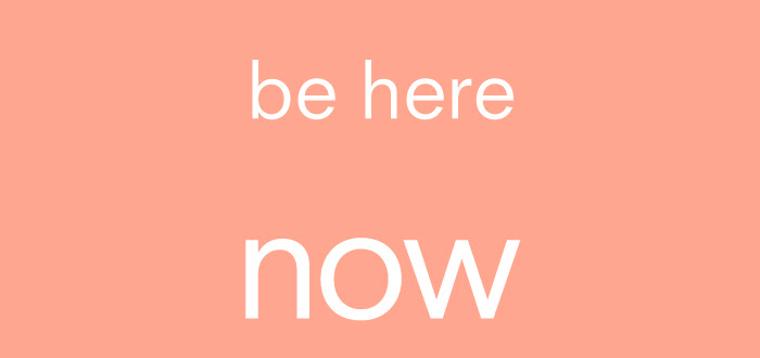 dash graphics typography pink be here now
