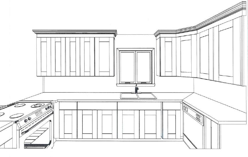 Drawing Plans Kitchen Cabinets PDF Woodworking
