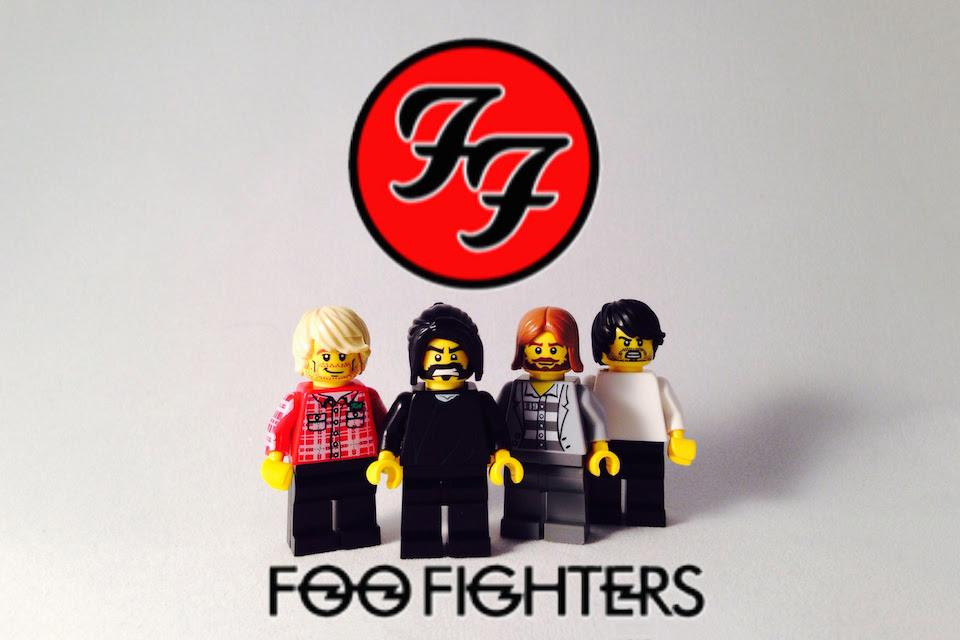 lego foo fighters Novo disco do Foo Fighters será finalizado em Junho