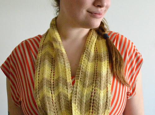 three color chevron scarf