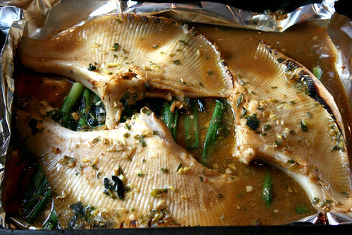 Miso skate cooking