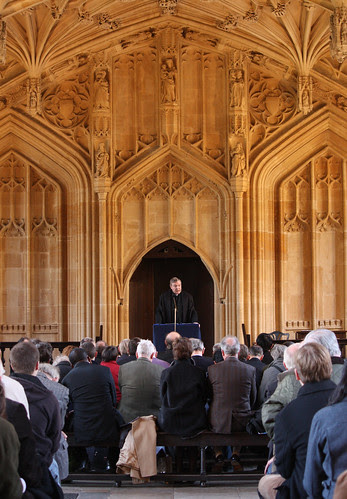 Cardinal Pell lecturing in Oxford