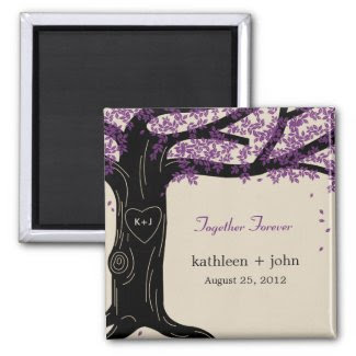 Oak Tree Wedding Magnet Refrigerator Magnet