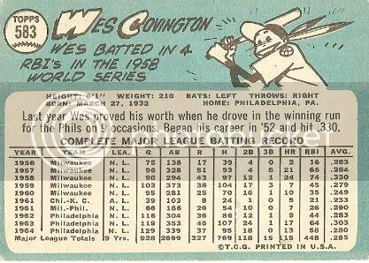 #583 Wes Covington (back)