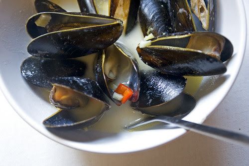 mussels for supper
