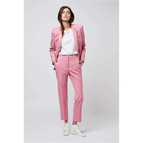 jacketpants pink women business suits formal office