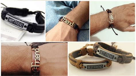 leather adjustable bracelets  home mens