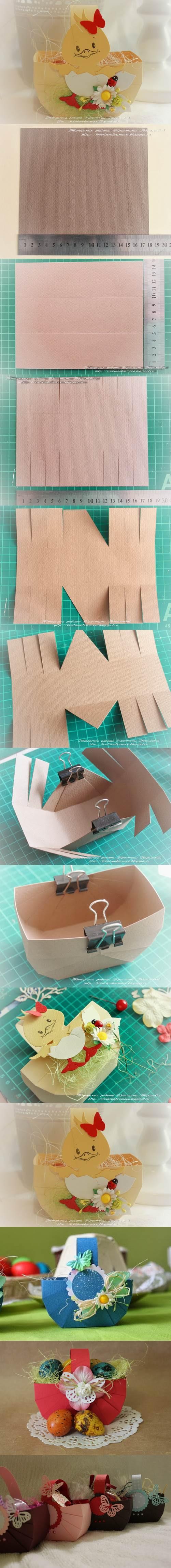 DIY Easy Cardboard Easter Basket 2
