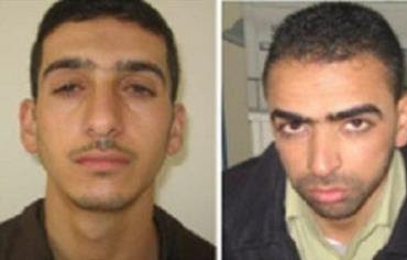 Wanted for kidnapping: (left to right) Marwan Quasma and Amar Abu Eisha