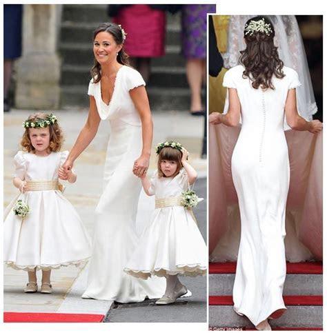 Pippa Sets a Trend   White Bridesmaid's Dresses   When I