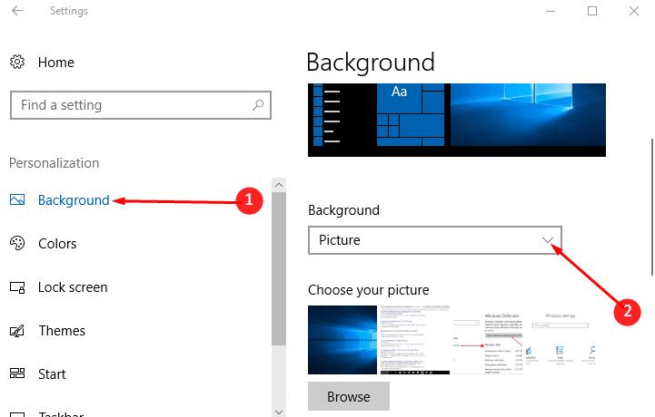 How to Set Custom Colour Desktop Background in Windows 10 image 2