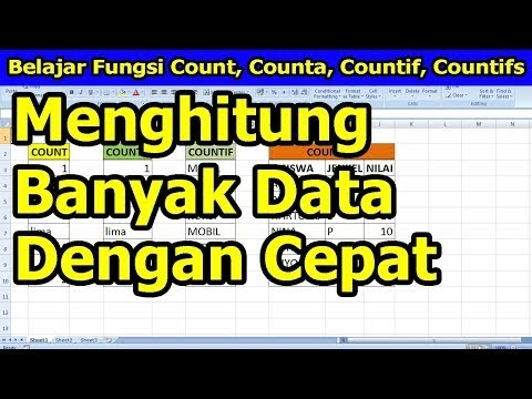Belajar Fungsi Count, Counta, Countif, dan Countifs