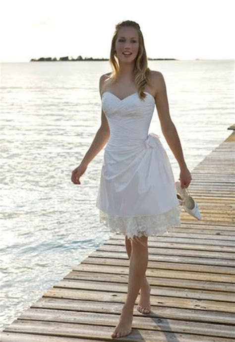 Beach Wedding Dresses Short   Dress FA