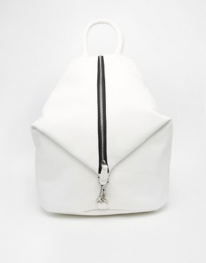 Image 1 of ASOS Front Zip Backpack with Dog Clip
