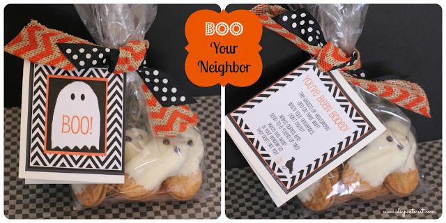 Boo Your Neighbor (Free Printables & Ghost Cookies How-to)