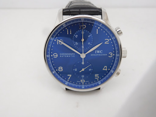 Z Factory V2 Best Replica IWC Portuguese Watch with Blue Dial Clone 79350 Movement