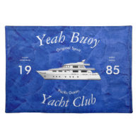 Yacht Club Yeah Buoy Cloth Place Mat