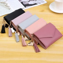 Women's Wallet Student Tassel Pendant Coin Purse For Ladies