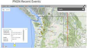 7/5/16 4.3 Earthquake Off Oregon Coast
