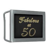 Fabulous at 50 Rectangle Belt Buckle