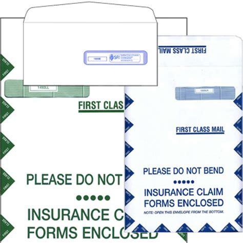insurance claim form mailing envelopes letter  jumbo size
