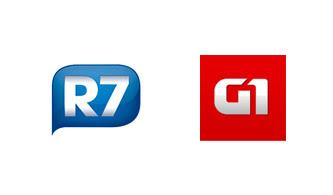 Portal  R7 da Record Copia Layout da Globo