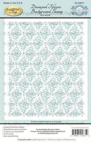 Diamond Filigree Cling Background Stamp