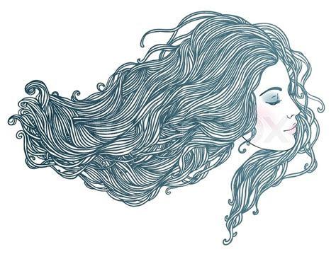 beauty salon portrait  pretty young woman  profile